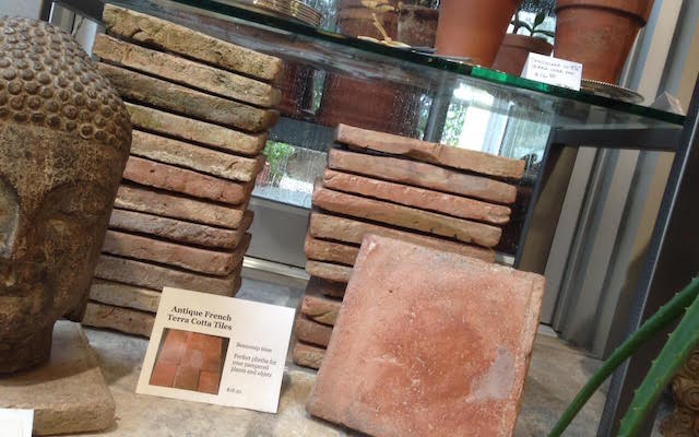 Antique French Terra Cotta Tiles