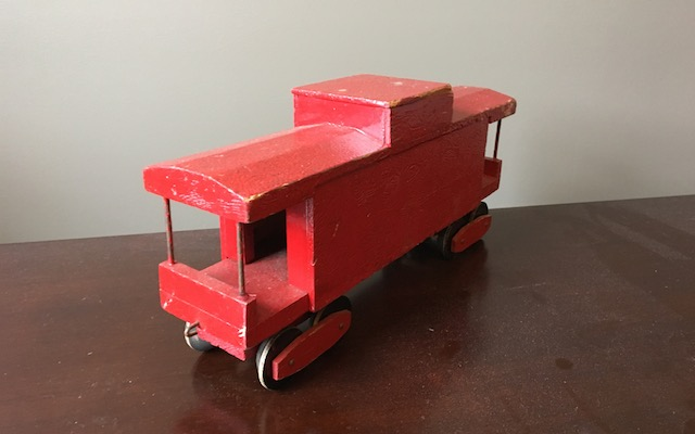 Red Folk Art Caboose